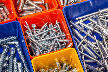 screws in colorful box photo