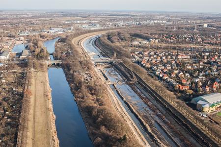 wroclaw: WROCLAW, POLAND - MARCH  02, 2014 Aerial view of Wroclaw city Editorial