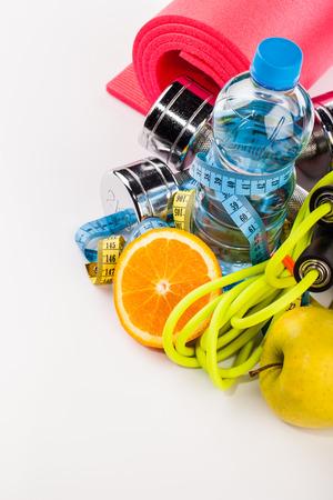 Fitness water and sport equipment composition Standard-Bild