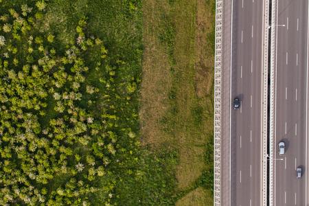 Vista aerea di autostrada in Polonia Archivio Fotografico - 41064309