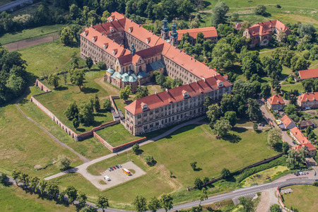 the abbey: aerial view of Lubiaz abbey in Poland