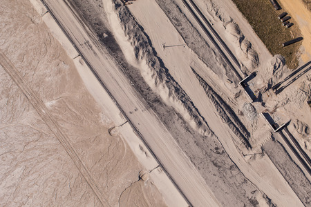 taint: aerial view of  Industrial waste reservoir near Polkowice city in Poland