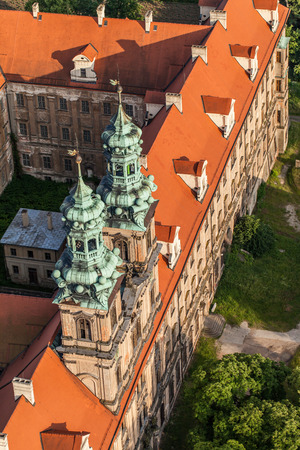 cistercian: aerial view of Lubiaz abbey in Poland