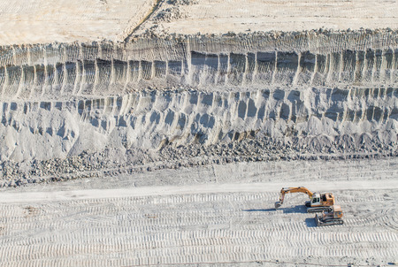 mining equipment: aerial view of coal mine in Poland