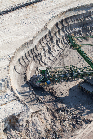 anthracite coal: aerial view of coal mine in Poland