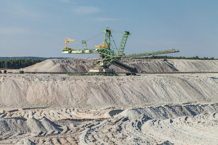 mining: aerial view of coal mine in Poland
