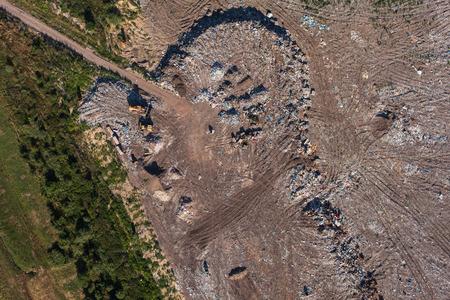 landfill site: veduta aerea della discarica spazzatura in Polonia