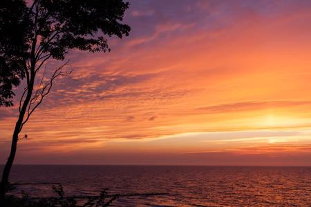 poland: sea sunset in poland