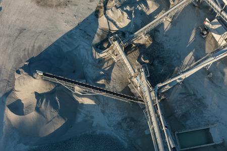 cinta transportadora: Vista aérea de la cantera en Polonia