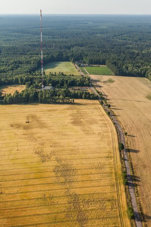 communication tower: aerial view of the communication Tower in Poland