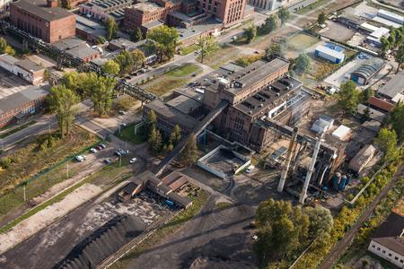 gora: aerial view of the Jelenia Gora city in Poland Stock Photo