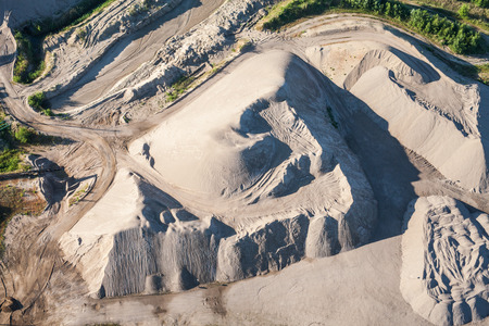 aerial view of the sand processing plant in Poland