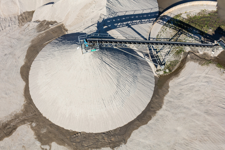 sand quarry: sand and stone processing plant in Poland