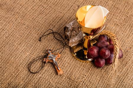 Christian communion composition Stockfoto