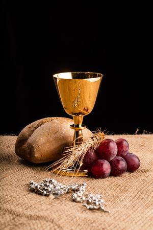 Christian communion composition Banque d'images