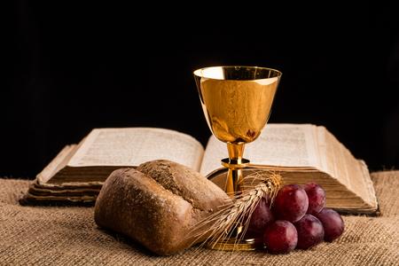 Christian communion composition 스톡 콘텐츠