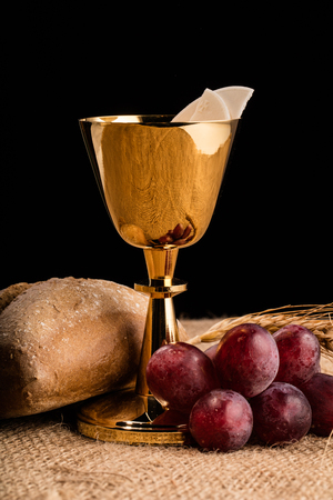 Christian communion composition Stock Photo