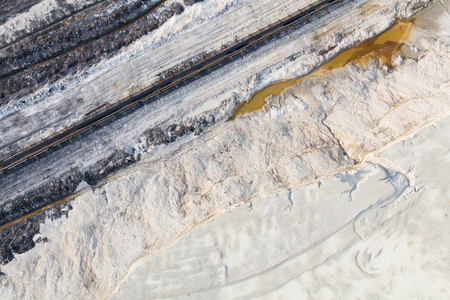 aerial view of the coal mine Stok Fotoğraf