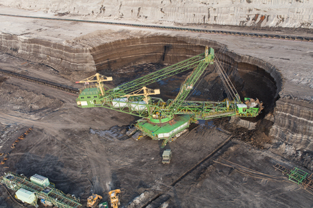 aerial view of the coal excavator Standard-Bild