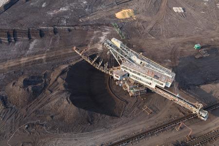 aerial view of the coal mine in Poland Archivio Fotografico - 103359871