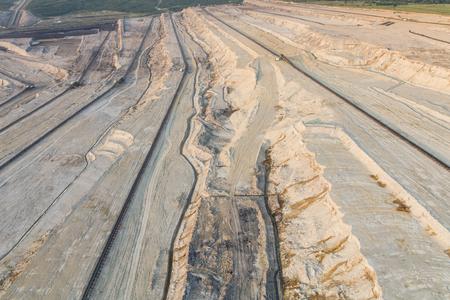 aerial view of the coal mine in Poland Archivio Fotografico - 103359955