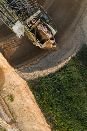 aerial view of the coal mine in Poland Archivio Fotografico - 103359956