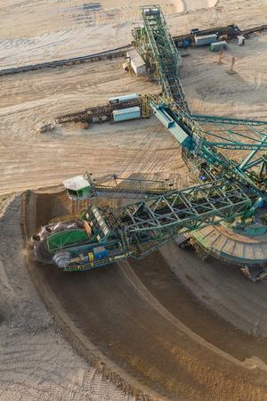 aerial view of the coal mine in Poland Archivio Fotografico - 103359959