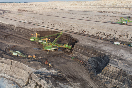 aerial view of the coal mine in Poland