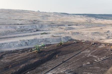 aerial view of the coal mine in Poland Archivio Fotografico - 103360075