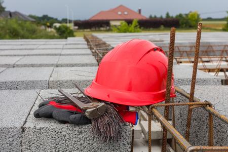 helmet on the building site Archivio Fotografico - 117009553