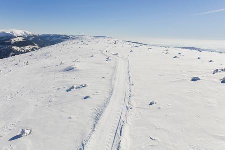 aerial view of the winter  mountain landscape in Poland Archivio Fotografico - 119664185
