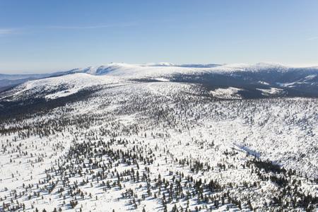 aerial view of the winter  mountain landscape in Poland Archivio Fotografico - 119664186