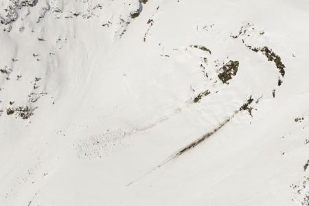 aerial view of the winter  mountain landscape in Poland Archivio Fotografico - 119668038