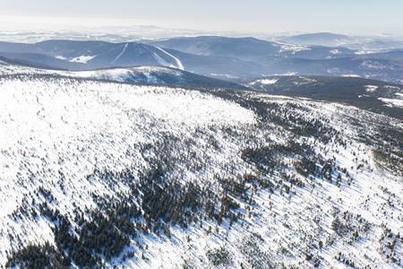 aerial view of the winter  mountain landscape in Poland Archivio Fotografico - 119668034