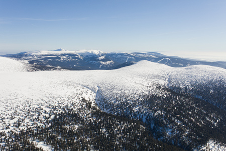 aerial view of the winter  mountain landscape in Poland Archivio Fotografico - 119668037