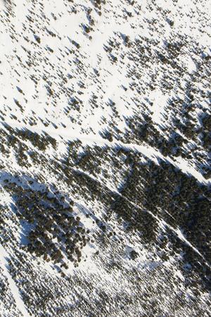 aerial view of the winter  mountain landscape in Poland Archivio Fotografico - 119668051