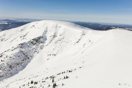 aerial view of the winter  mountain landscape in Poland Archivio Fotografico - 119664286