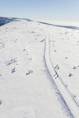 aerial view of the winter  mountain landscape in Poland Archivio Fotografico - 119664304