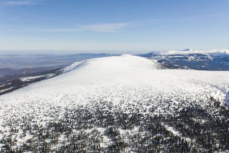 aerial view of the winter  mountain landscape in Poland Archivio Fotografico - 119668288