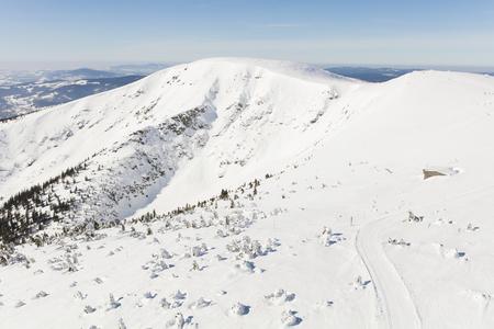 aerial view of the winter  mountain landscape in Poland Archivio Fotografico - 119668352