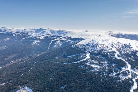 aerial view of the winter  mountain landscape in Poland Archivio Fotografico - 119668356