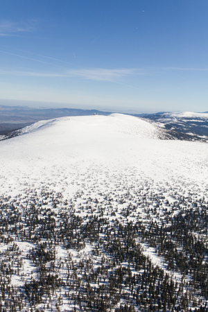 aerial view of the winter  mountain landscape in Poland Archivio Fotografico - 119668358