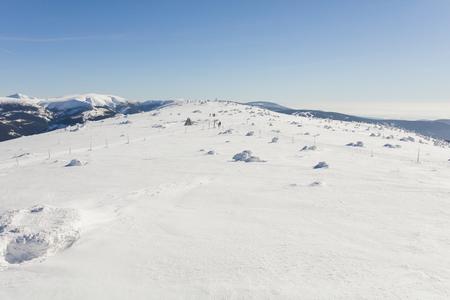 aerial view of the winter  mountain landscape in Poland Archivio Fotografico - 119668361