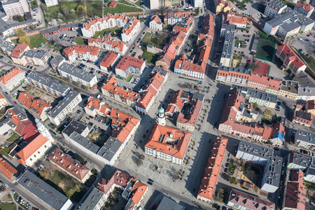 Aerial view of the Olesnica city in Poland Archivio Fotografico - 123727357