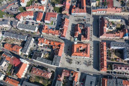 Aerial view of the Olesnica city in Poland Archivio Fotografico - 123727358
