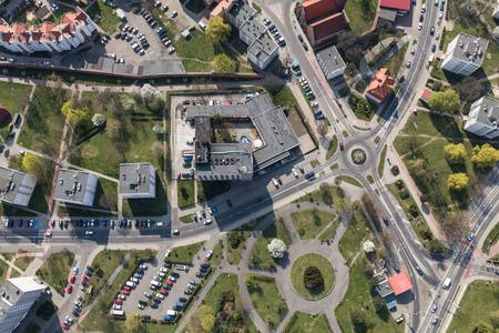 Aerial view of the Olesnica city in Poland Archivio Fotografico - 123727359