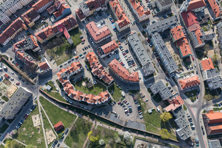 Aerial view of the Olesnica city in Poland Archivio Fotografico - 123727366