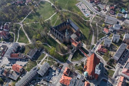 Aerial view of the Olesnica city in Poland Archivio Fotografico - 123727304