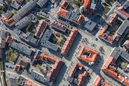 Aerial view of the Olesnica city in Poland Archivio Fotografico - 123727367