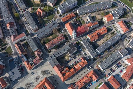 Aerial view of the Olesnica city in Poland Archivio Fotografico - 123727365